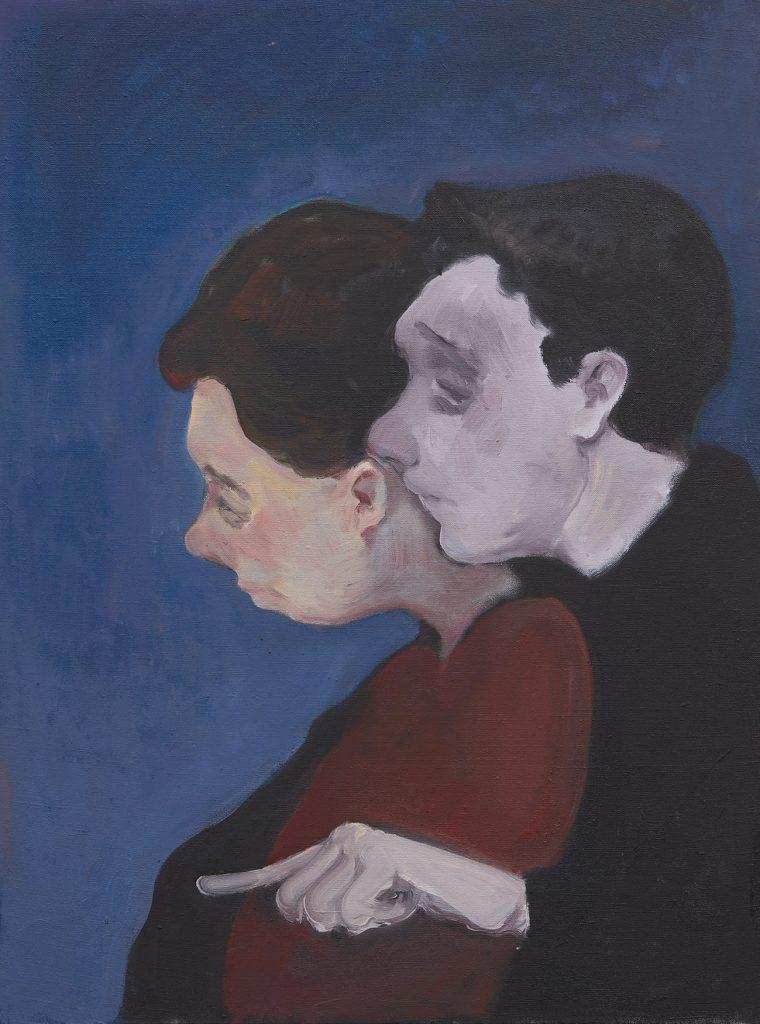 Turn Forward, 2019, Oil on canvas, 80 × 60 cm  | 《向前看》,2019年,布面油画,80 x 60厘米