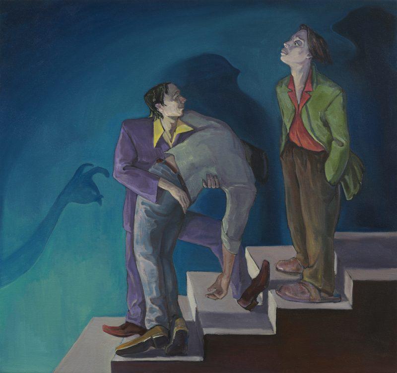 He Ain\'t Dead, Just Melancholic, 2020, oil on canvas, 150x160cm | 《他没死,只是忧郁》,2020年,布面油画,150x160cm