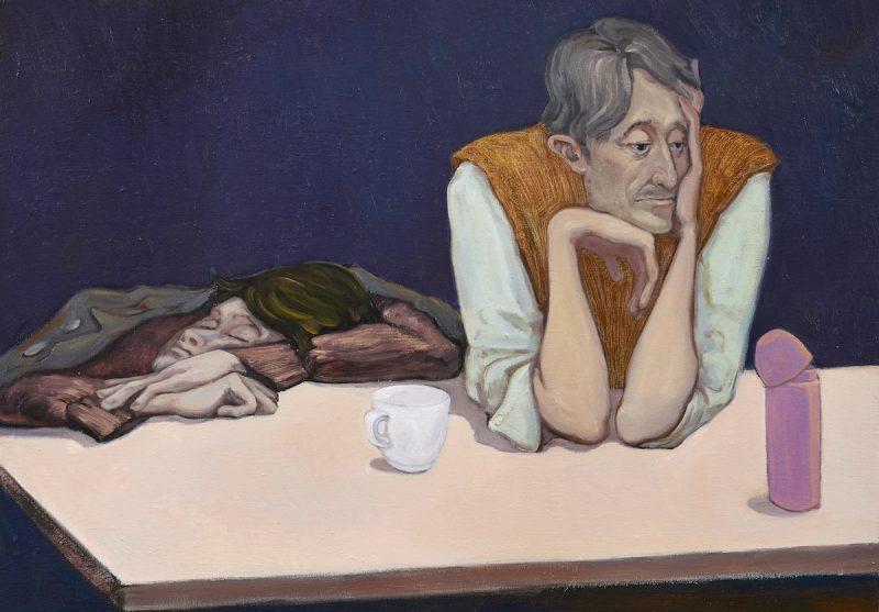 Nocturnes of the Artists Association, 2020, oil on canvas, 100 x 70cm | 《美协夜曲》,2020年,布面油画,100 x 70厘米