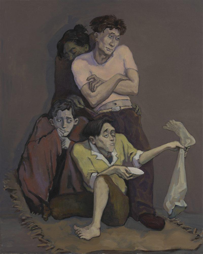 Waif, 2021, Oil on canvas, 150 x 120cm | 《流浪儿》,2021年,布面油画,150 x 120厘米